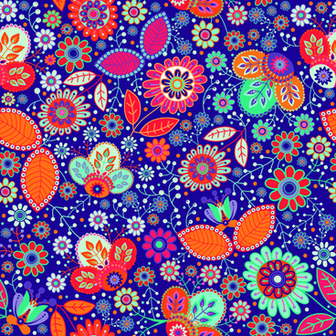 floral ethnic pattern seamless vector