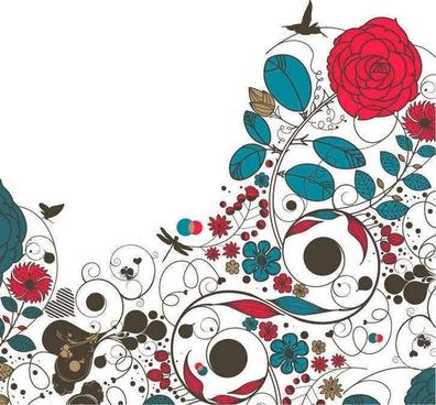 Floral Flower Vector Background