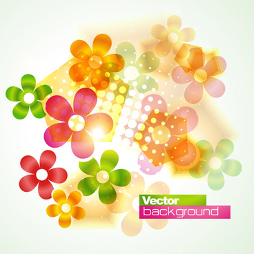 floral flowers vector background