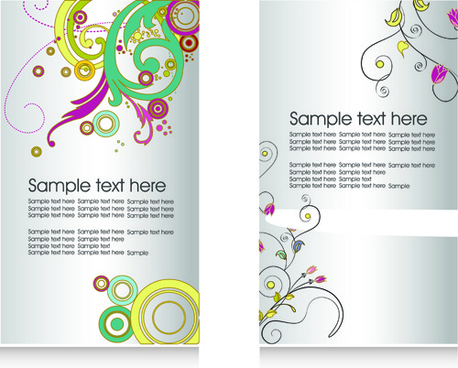 floral flyers and brochures cover vector