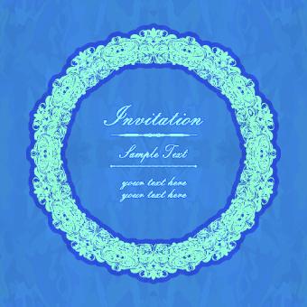 floral frame invitation vector