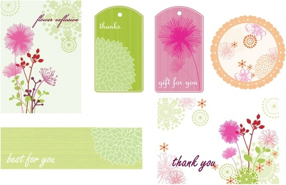 Floral Frames Tags and Cards