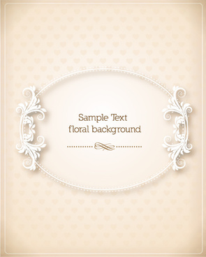 floral frames vector backgrounds set