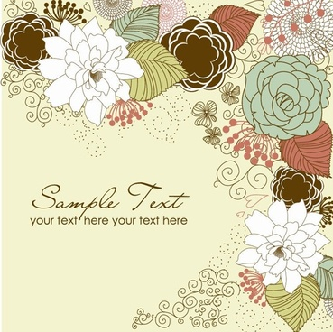Floral Greeting Card Design Free Vector Download 19501 Free Vector