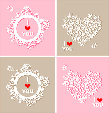 floral heart and clock vector