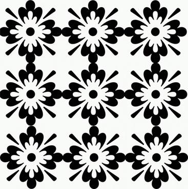 floral illustration black and white