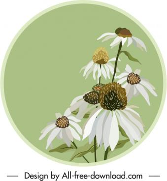 floral label template elegant classic handdrawn design
