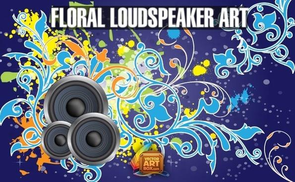 Floral Loudspeaker Art