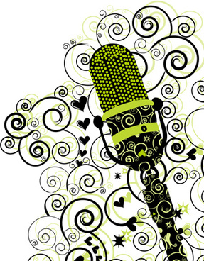 floral microphone vector