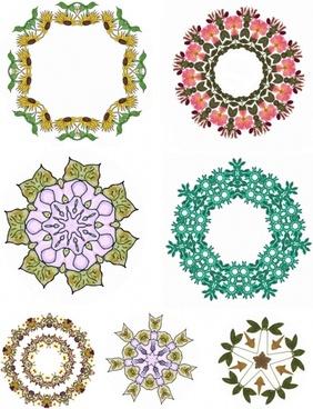 floral motifs collage sheet