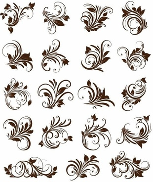 Floral Ornament Element Vector Graphics
