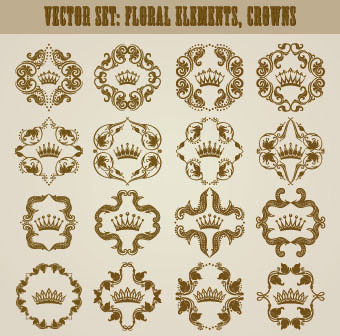 floral ornaments and borders elements vector