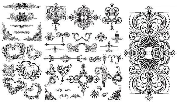 floral ornaments vector