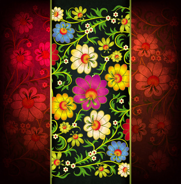 floral ornaments vector backgrounds