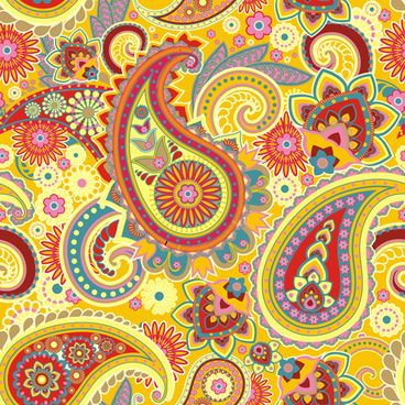 floral paisley pattern seamless vector
