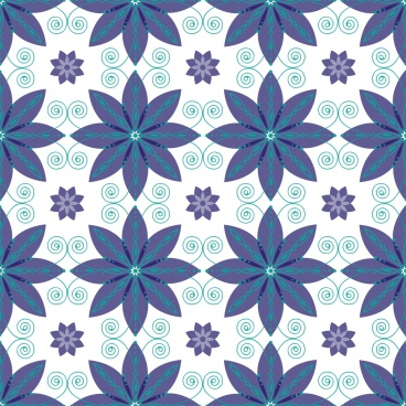 floral pattern background curves symmetric repeating style