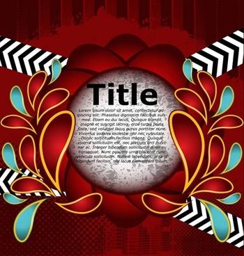 decorative background dark red grunge circle petals decor