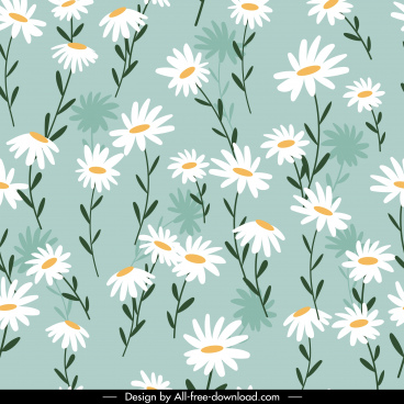 floral pattern bright colored classic repeating decor