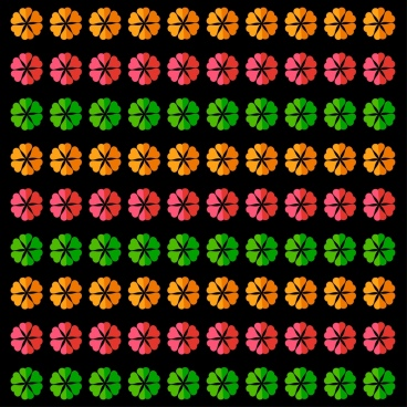 floral pattern colorful repeating design