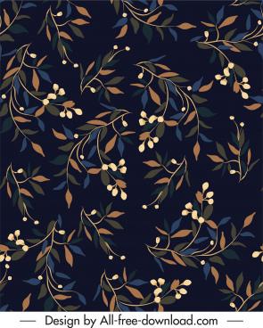 floral pattern dark luxuriant classic decor