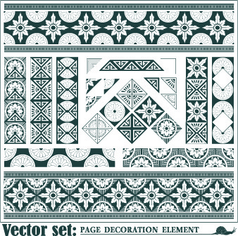 floral pattern decoration element vector