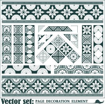 floral pattern decoration element vector