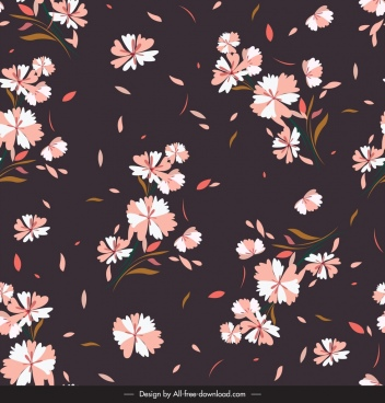 floral pattern template classical dark colored decor