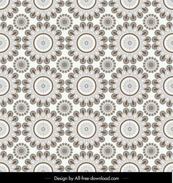 floral pattern template classical symmetrical repeating decor