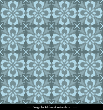 floral pattern template colored flat classical symmetrical repeating