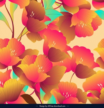 floral pattern template colorful classical decor