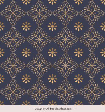 floral pattern template dark repeating symmetric decor