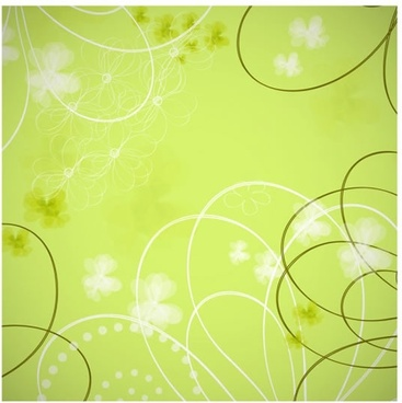 decorative background flowers sketch dynamic curves design