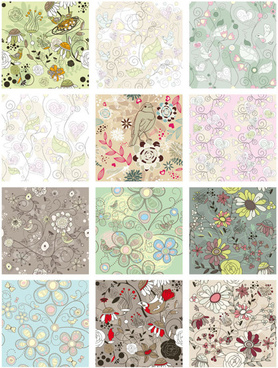 floral pattern vector collection