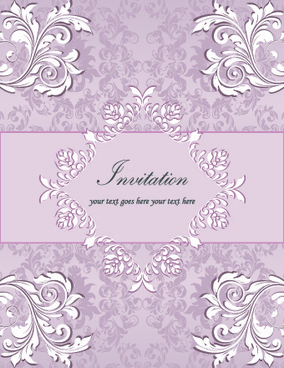 floral invitation background designs pink free vector download