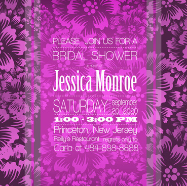 floral romantic wedding card vectors