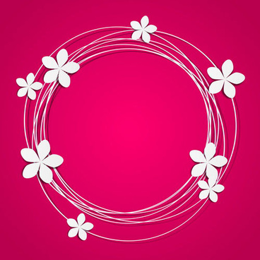 floral round frame with place for text