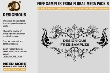 floral samples vector graphic