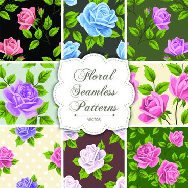 floral seamless pattern vectors