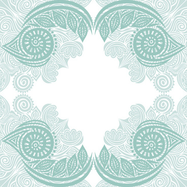 floral tiling pattern vintage vector set
