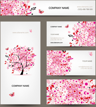 Floral vintage business card invitation free vector download 33338 floral tree business card design vector reheart Image collections