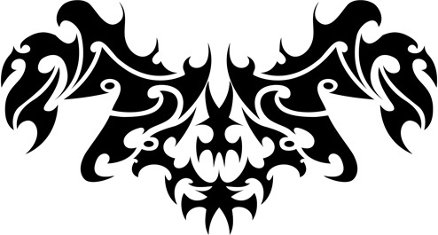 floral tribal tattoo vector