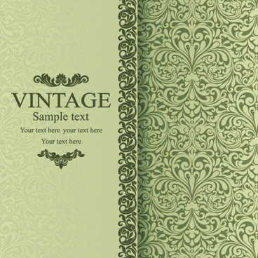 floral vintage backgrounds vector