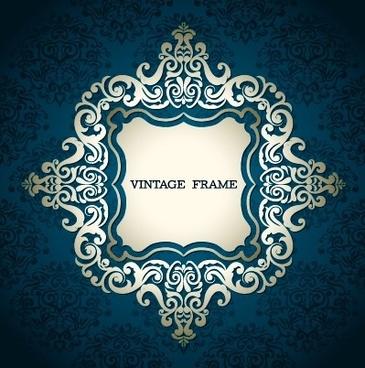 floral vintage frame vector graphics