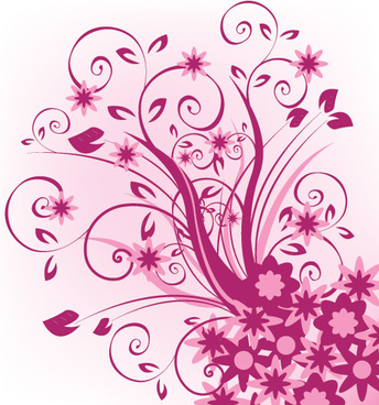 floral violet vector graphic