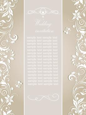 floral wedding invitation card elegant design