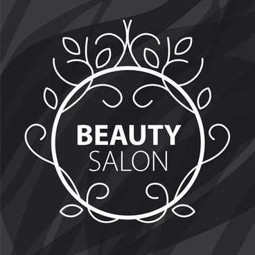 floral with beauty salon logos vector