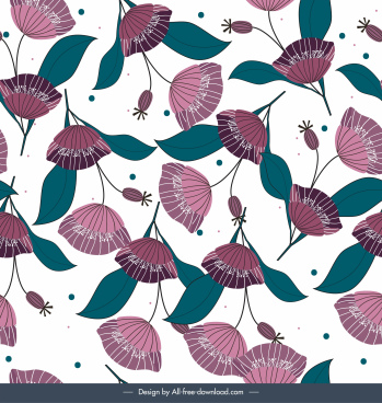 floras pattern colored classical handdrawn design