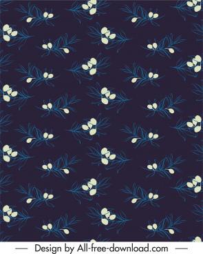 floras pattern repeating design dark decor