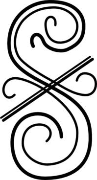 Flourish Two, Vertical clip art