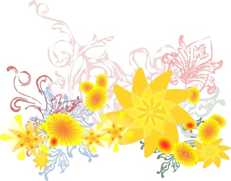 Flourishing Flowers clip art